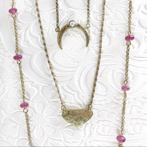 Jewelry - Three charm necklaces in one